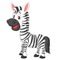 Cute zebra cartoon vector