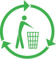 Recycling bin icon vector