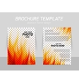 Brochure with flame vector