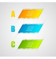 Modern infographics template torn paper style vector