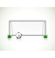 Soccer goal and ball vector