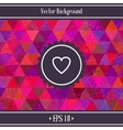Heart triangles geometric background vector