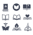 Set of book icons vector
