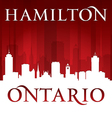 Hamilton ontario canada city skyline silhouette vector