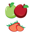 Fruit apple with strawberry vector