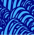 Background with abstract blue waves seamless vector