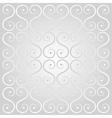 Silver decorative lattice vector