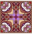 Traditional ornamental floral paisley violet vector