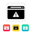 Security warning in browser icon vector