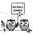No ball games vector