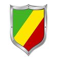Republic of the congo flag button vector