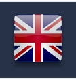 Square icon with flag of the uk vector