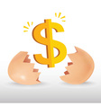 Dollar egg vector
