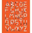 Original metal font vector
