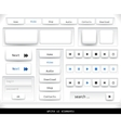 Set of white ui elements vector