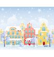 Winter street vector