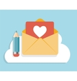 Flat design concept email icon vector