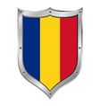 Romania flag button vector