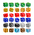 Gaming dice of different colors vector