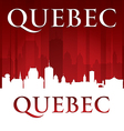 Quebec canada city skyline silhouette vector