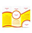 Tri-fold brochure template vector