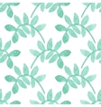 Seamless watercolor pattern with floral elements vector