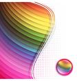 Rainbow multicolored frame vector