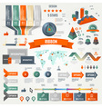 Infographics set with options vector
