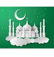Paper of mosque vector
