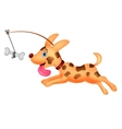 Funny dog running vector