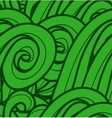 Background with abstract green waves seamless vector