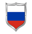 Russian flag button vector