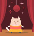 Character dancer in dress colorful flat vector
