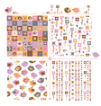 Cute spring patterns vector