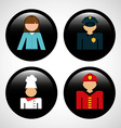 Jobs icons vector