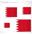 Bahrain flag template vector