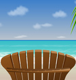 Adirondack beach chair vector
