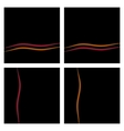Black background set with waves eps10 vector