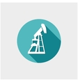 Oil industry button vector
