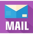 Flat envelope design concept vector