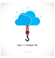 Flat cloud technology computing background concept vector