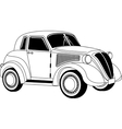 Old vintage car vector