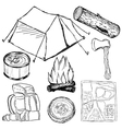 Camp objects vector