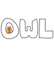 O is for owl - with funny staring owl vector