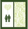 Abstract swirls texture couple in love silhouettes vector