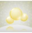 Science background yellow molecule vector