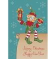 Christmas santa elf design vector