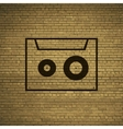 Cassette icon symbol flat modern web design with vector