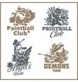 Paintball emblem and logo - vinyl-ready set vector