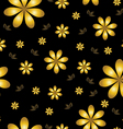 Floral wallpaper with set of different flowers vector